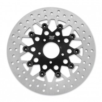 Twin Power Front Black Floating Mesh Style Brake Rotor - 1441TB | |  Hot Sale