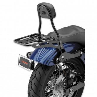 "Cobra Black Quick Detachable 14"" Round Bar Sissy Bar with Backrest - 602-2004B | |  Hot Sale"