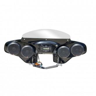 Reckless Motorcycles 4-Speaker Batwing Fairing - RKING525      Hot Sale
