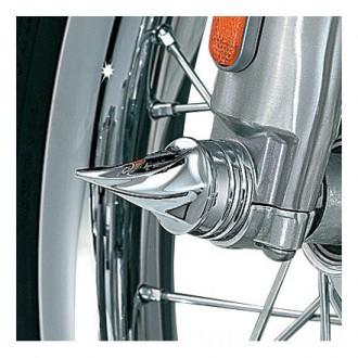 Kuryakyn Twisted Front Axle Caps - 1219 | |  Hot Sale