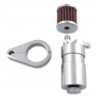 V-Twin Manufacturing Chrome Engine Breather Oil Collector - 40-0595 | |  Hot Sale