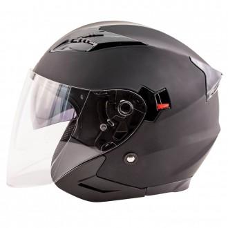 Zox Journey Matte Black Open Face Helmet - 88-33643      Hot Sale
