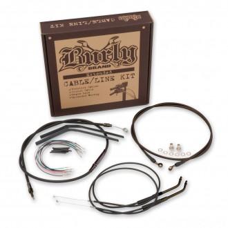 "Burly Brand Black 14"" Ape Hanger Cable/Brake/Wiring Kit - B30-1004 | |  Hot Sale"