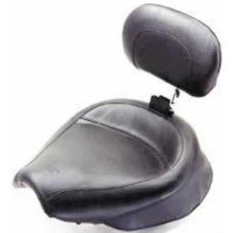 Mustang Wide Vintage Solo Seat with Backrest - 79429 | |  Hot Sale