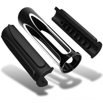 Arlen Ness Black Deep Cut Comfort Grips - 07-053 | |  Hot Sale