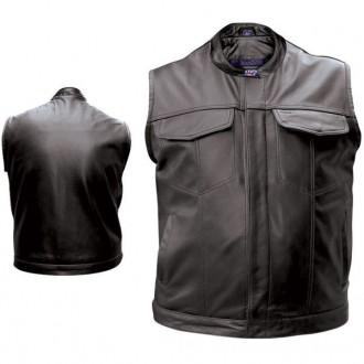 Allstate Leather Inc. Men's Concealed Carry Leather Vest - AL2230-LG | |  Hot Sale