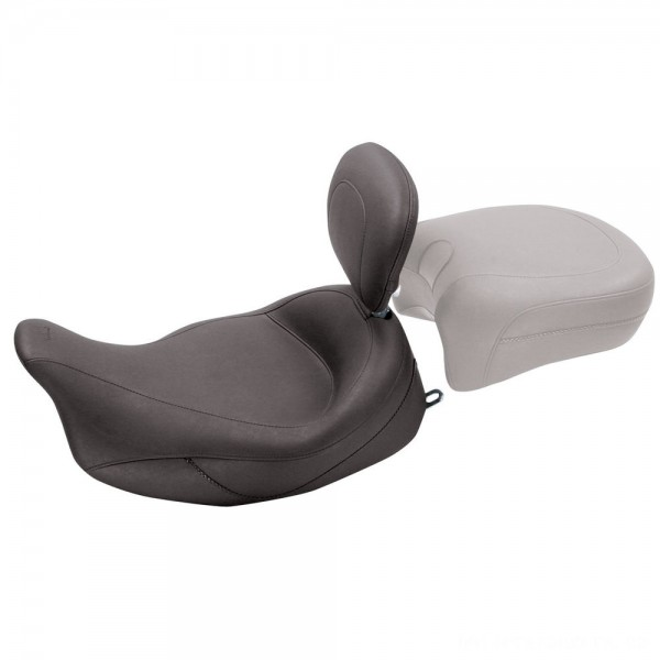 Mustang Super Touring Solo Seat with Driver Backrest, Original, Black - 79446 | |  Hot Sale