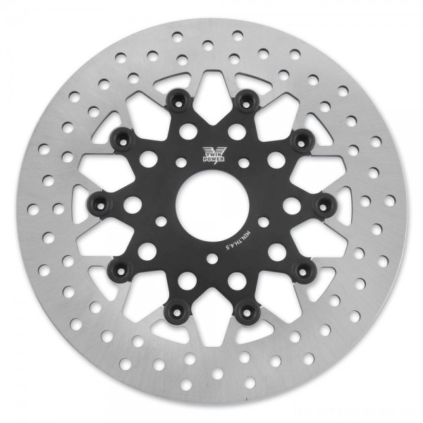 Twin Power Front Black Floating Mesh Style Brake Rotor - 1402TB | |  Hot Sale