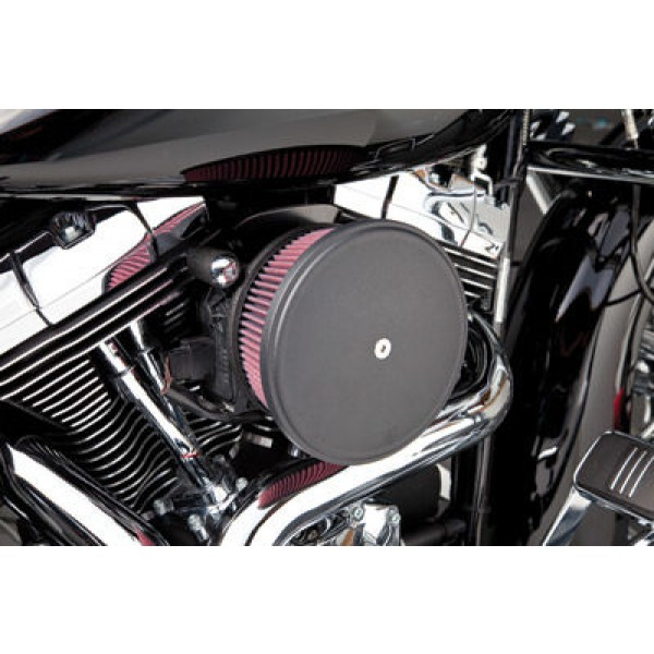 Arlen Ness Black Finish Stage II Big Sucker Kit Smooth Steel Cover - 18-774 | |  Hot Sale