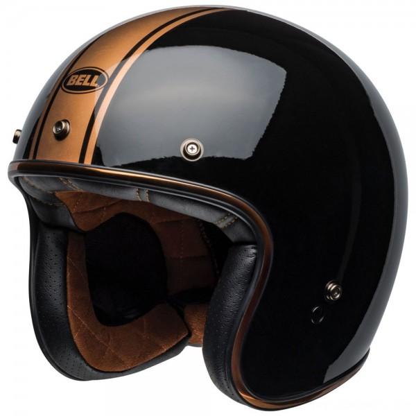 Bell Custom 500 Rally Gloss Black/Bronze Open Face Helmet - 7108896 | |  Hot Sale