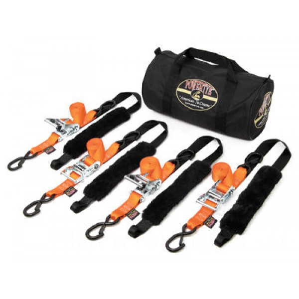 PowerTye Fat Strap Ratchet Tie-down Kit - TRAILERKIT-89 | |  Hot Sale