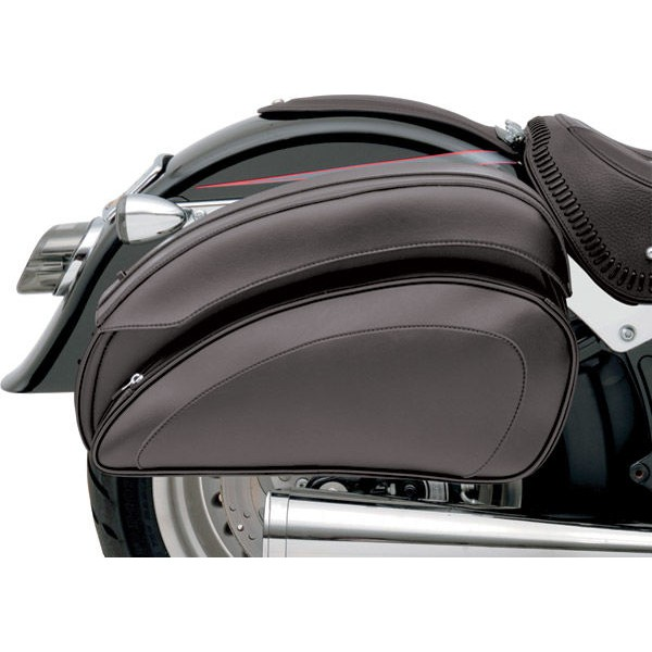 Saddlemen Cruis'N Deluxe Saddlebag Set with Chrome Supports - 3501-0718 | |  Hot Sale