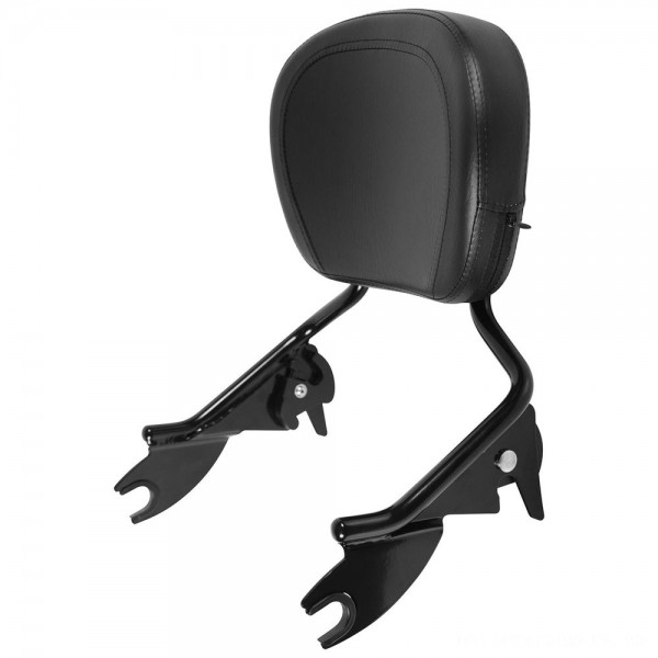 HogWorkz Black Shorty Detachable Sissy Bar Backrest - HW157123 | |  Hot Sale