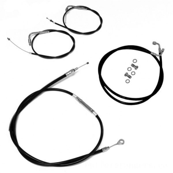 LA Choppers Black Cable/Brake Line Kit for 12″-14″ Bars - LA-8210KT-13B | |  Hot Sale