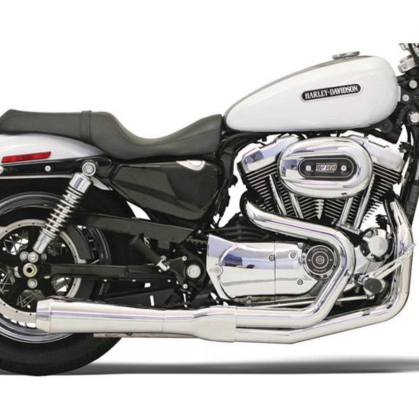 Bassani Road Rage Chrome 2-into-1 Short Megaphone Muffler - 14212J | |  Hot Sale