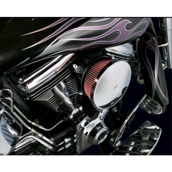 Arlen Ness Chrome Finish Stage II Big Sucker Kit Smooth Steel Cover - 18-818 | |  Hot Sale