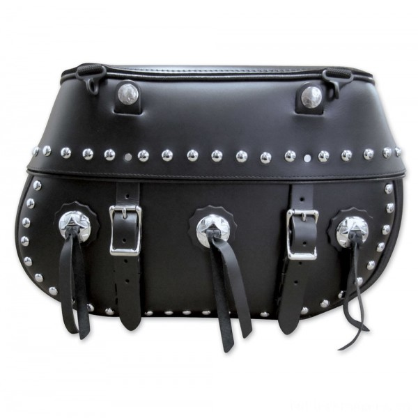 Leatherworks, Inc. Classic Studded Saddlebags - 110BOSC | |  Hot Sale