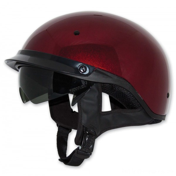 Zox Roadster DDV Candy Red Half Helmet - Z88-00484 | |  Hot Sale