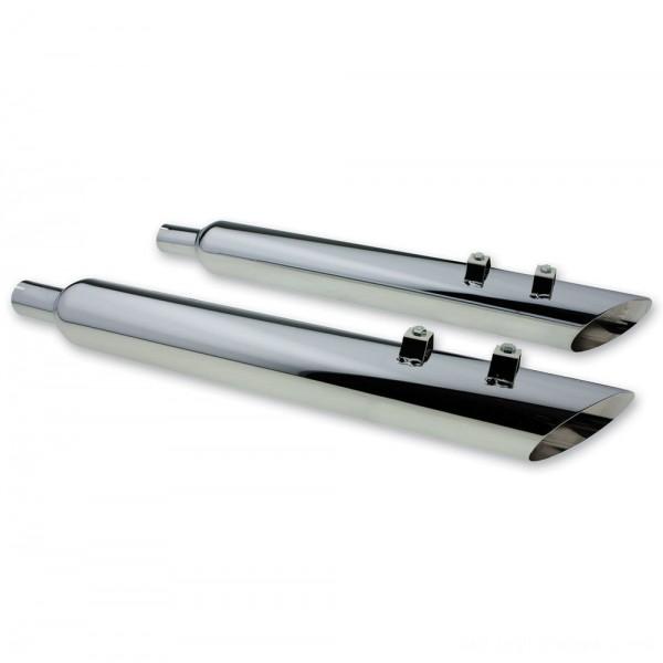 "Full Boar Exhaust Angle Cut Slip-On Muffler with 2.5"" Baffle - JAC31230MC250 | |  Hot Sale"