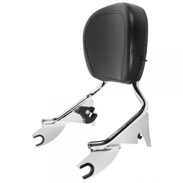 HogWorkz Chrome Shorty Detachable Sissy Bar Backrest - HW157211 | |  Hot Sale