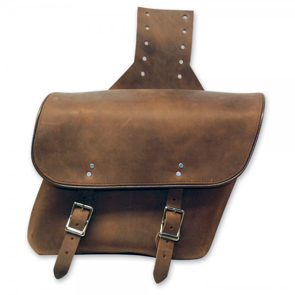 Leatherworks, Inc. Distressed Brown Throwover Saddlebags - 404T      Hot Sale