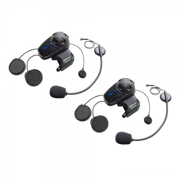 Sena Technologies SMH10 MC Bluetooth Headset/Intercom with Universal Mic Kit Dual Pack - SMH10D-11      Hot Sale