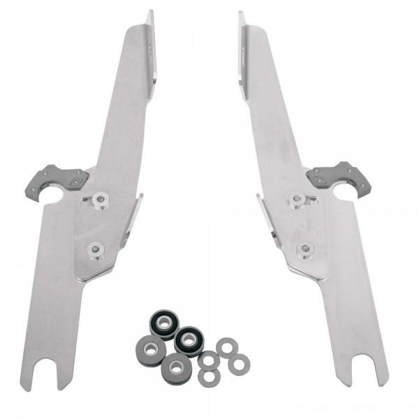 Memphis Shades Fats/Slims/Batwing Fairing Polished Trigger Lock Mount Kit - MEK1913      Hot Sale