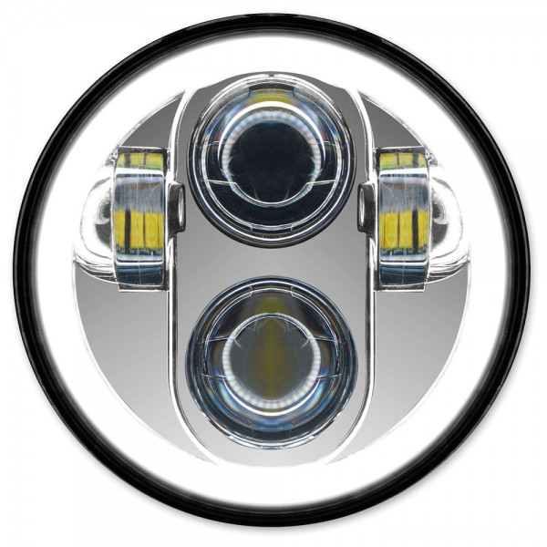 HogWorkz 5-3/4″ LED Chrome HaloMaker Headlight - HW195012 | |  Hot Sale