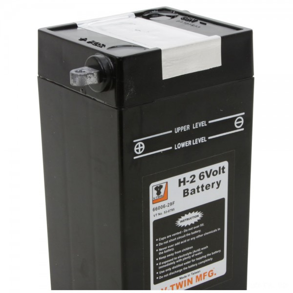 V-Twin Manufacturing Replica 6-Volt Battery Model H-2 - 53-0795      Hot Sale