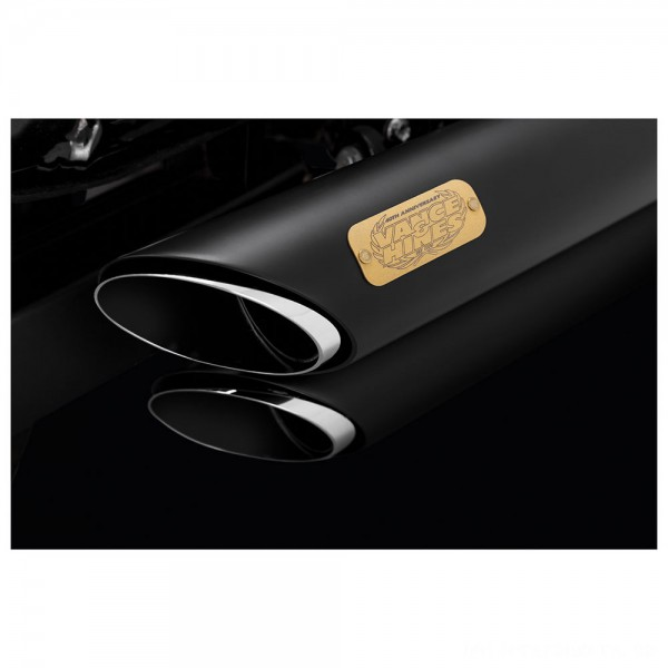 Vance & Hines 40th Anniversary Shortshots Staggered Black Exhaust System - 47429      Hot Sale