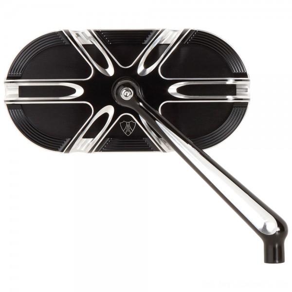 Arlen Ness Deep Cut Black Mirrors - 13-166 | |  Hot Sale