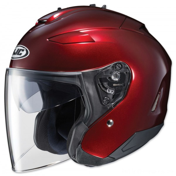 HJC IS-33 II Metallic Wine Open Face Helmet - 0833-0211-06      Hot Sale