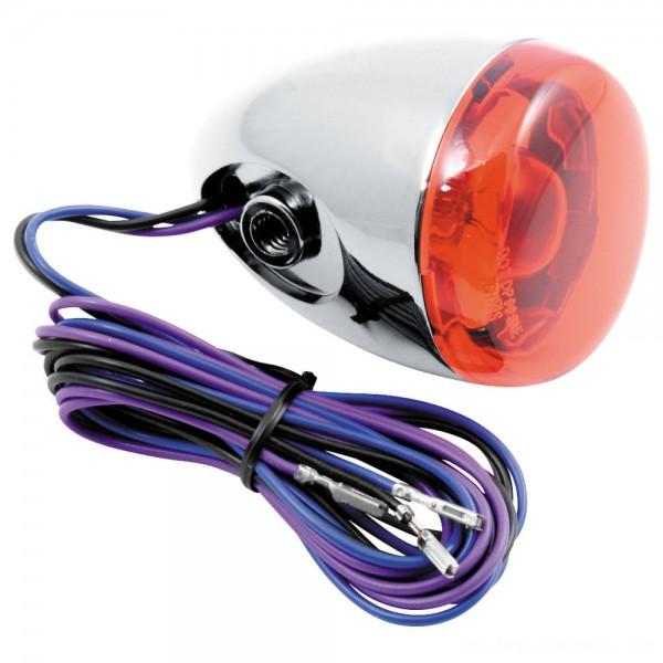 Chris Products Rear Signal Chrome Amber Dual Filament Bracket Mount - 8887A      Hot Sale