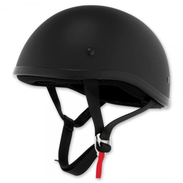 Skid Lid Original Flat Black Half Helmet - 646633      Hot Sale