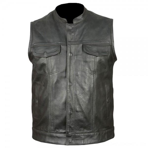 Vance Leathers Men's Classic Club Black Leather Vest - VL914-LG | |  Hot Sale
