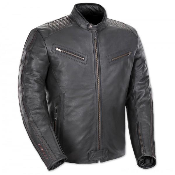 Joe Rocket Men's Vintage Rocket Black/Black Leather Jacket - 1680-1005 | |  Hot Sale