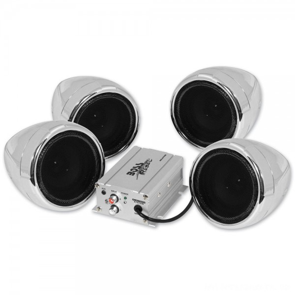 "Boss Audio Systems 1000 Watt Bluetooth 3"" Chrome Speaker Kit - MC470B | |  Hot Sale"