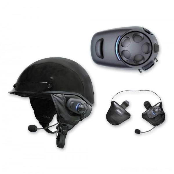 Sena Technologies SPH10H-FM Dual Pack Bluetooth Headset/Intercom for Half Helmets - SPH10HD-FM-01      Hot Sale