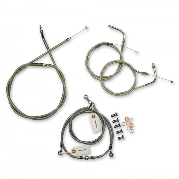 LA Choppers Stainless Cable/Brake Line Kit for 12″-14″ Bars - LA-8010KT-13 | |  Hot Sale