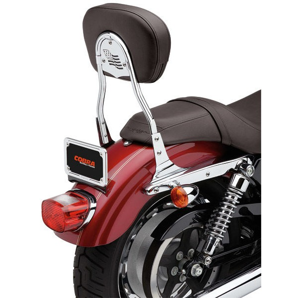 Cobra Short Round Sissy Bar with Pad - 602-1303 | |  Hot Sale