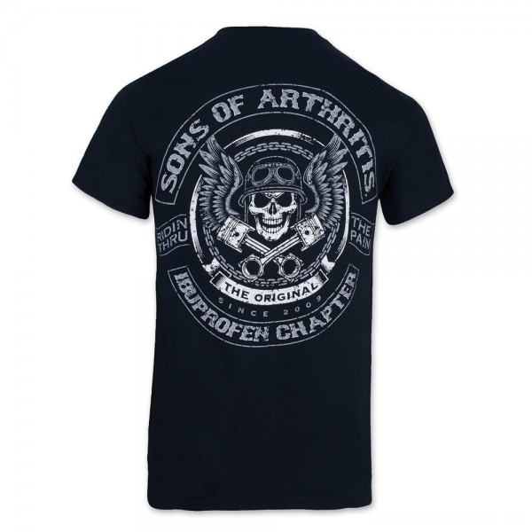 Sons of Arthritis Men's Skulls & Pistons Black T-Shirt - 186 | |  Hot Sale