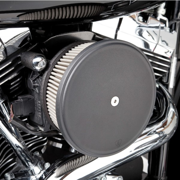 Arlen Ness Black Finish Stage I Big Sucker Kit Smooth Steel Cover with Synthetic Filter - 50-335 | |  Hot Sale