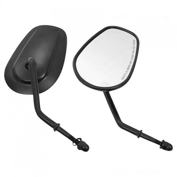 Biker's Choice Tapered Short Stem Mirrors Black - 70237      Hot Sale