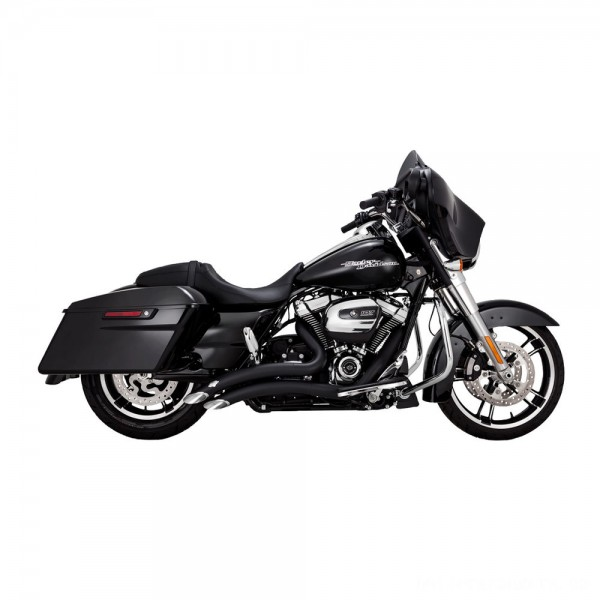 Vance & Hines Big Radius 2 into 2 Black Exhaust - 46073 | |  Hot Sale