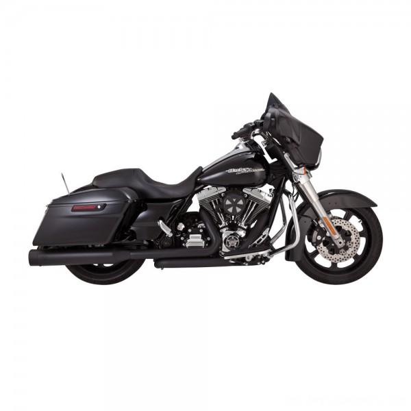 Vance & Hines Titan OverSized 450 Slip Ons Black with Black End Caps - 46549 | |  Hot Sale