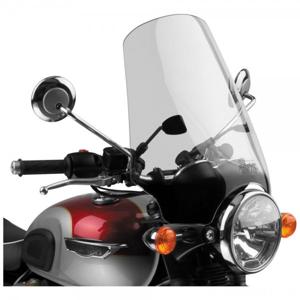 National Cycle Street Shield EX Light Gray Windshield - N2568-01      Hot Sale